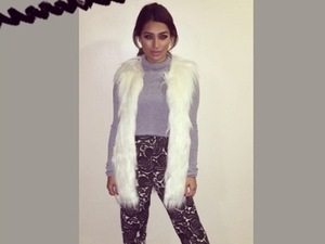 Vanessa White looks chic and cosy for pre-birthday supper