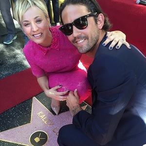 Kaley Cuoco-Sweeting joined by Ryan Sweeting for own star on the Hollywood Walk Of Fame, LA 29 October