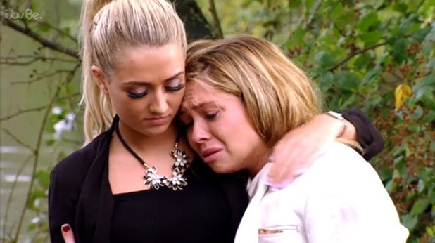 Fran Parman in tears after finding naked pictures on James Diags Bennewith's phone, TOWIE 29 October