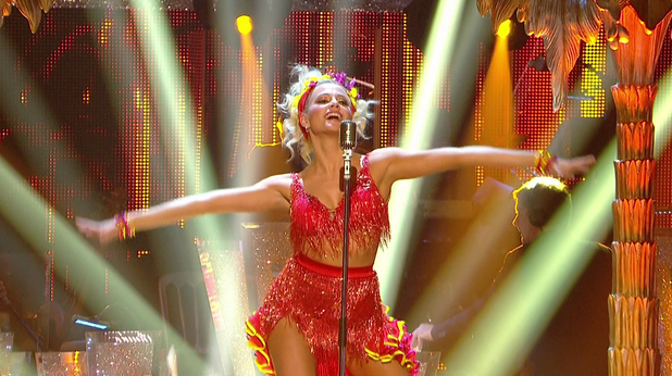 Pixie performs the Samba on Strictly Come Dancing, BBC One 25 October