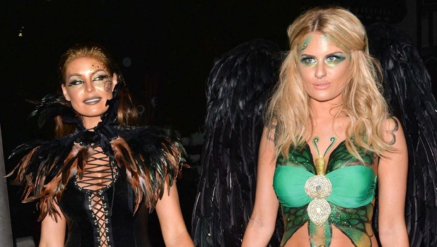 Celebrities at Sheesh Restaurant, Essex, Britain - 29 Oct 2014 Jessica Wright and Danielle Armstrong