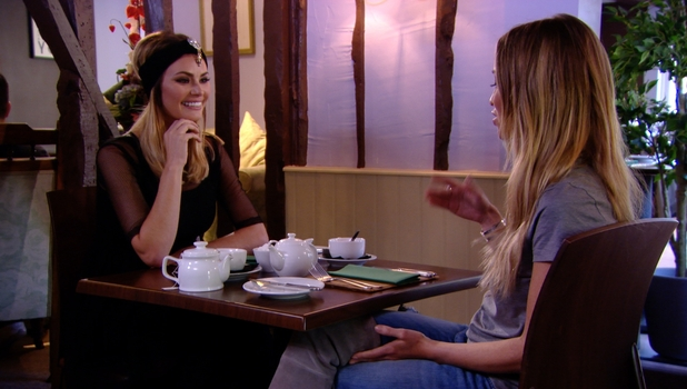 Chloe Sims and Lauren Pope have an emotional meeting, 2 November 2014