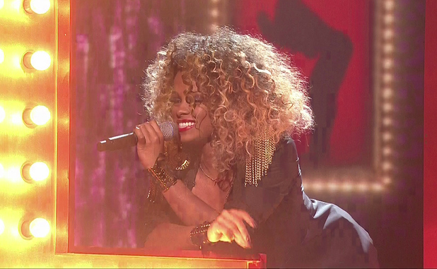 Fleur East performs 'Lady Marmalade' on The X Factor, ITV 25 October