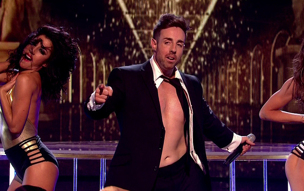 Stevi Ritchie performing on the first live show of 'The X Factor' - 11/10/2014.