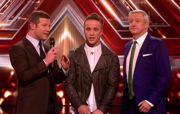 Sam Callahan is sent home after the judges vote on 'The X Factor - Results', Shown on ITV1 HD. 17 November 2013.