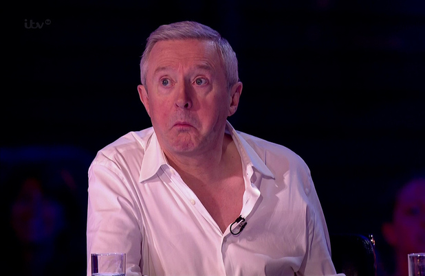 Louis Walsh on The X Factor. 26 September 2014.
