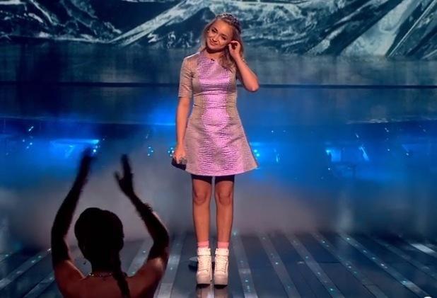 Lauren Platt performs on The X Factor - 25 October 2014