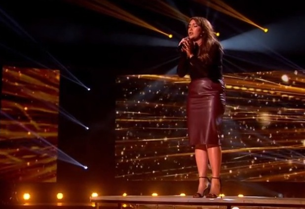 Lola Saunders performs on The X Factor - 25 October 2014