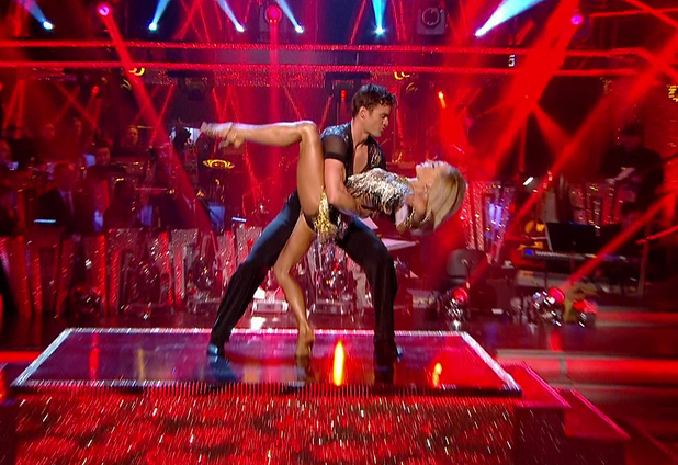 Thom Evans and Iveta Lukosiute perform on Strictly Come Dancing, BBC One 25 October