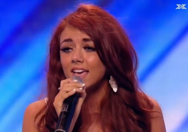 Lydia Lucy on The X Factor in 2013
