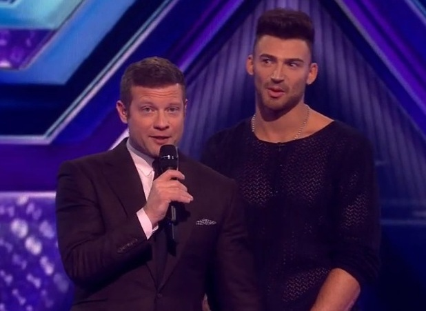 Mel B cries as Jake Quickenden is sent home from The X Factor - 27 Oct 2014