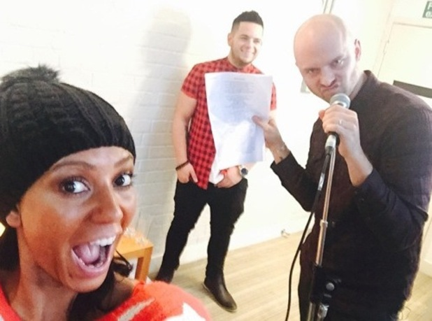 Mel B at rehearsals with X Factor hopeful Paul Akister 27 October