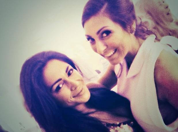 Luisa Zissman and Casey Batchelor at her engagement party! 1 November 2014
