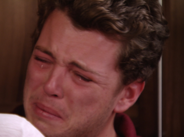 The Only Way Is Essex - James 'Diags' Bennewith in tears. Airs: 29 October.