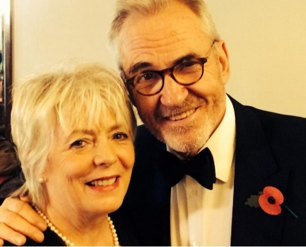 Larry Lamb and Alison Steadman selfie during BBC's Children In Need choir rehearsal - 29 Oct 2014