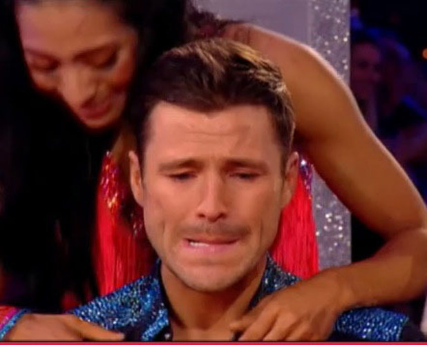 Mark Wright fights back tears on Strictly