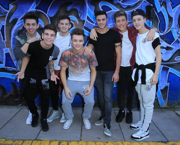 X Factor finalists Stereo Kicks arrive at the music studio for rehearsals - 27/10/14