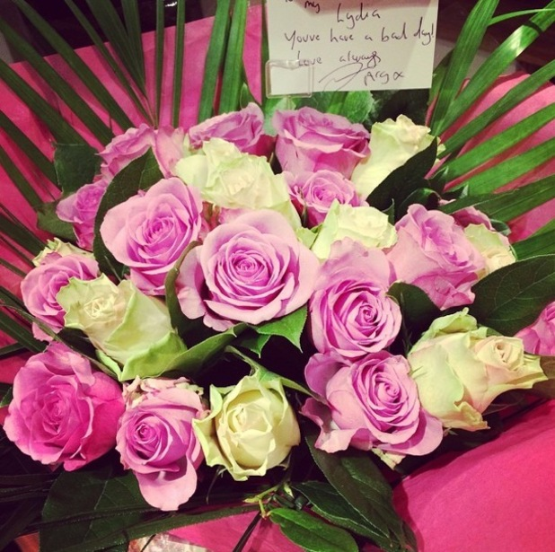 TOWIE's James 'Arg' Argent sends Lydia Bright bouquet of flowers 28 October