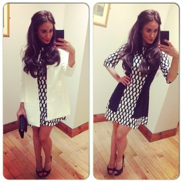 Vicky Pattison wears a dress designed by Amy Childs for a personal appearance in Ireland - 26 October 2014
