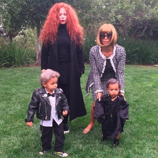 Kim Kardashian dresses as Anna Wintour for Halloween, 1 November 2014