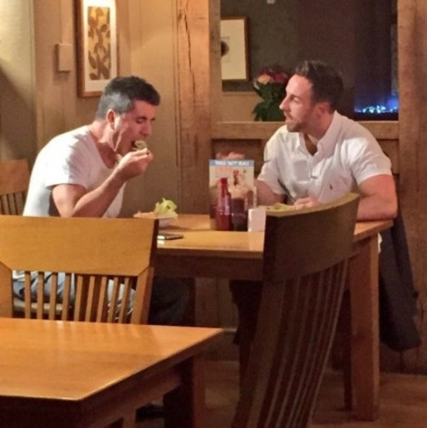 Simon Cowell has dinner with Stevi Ritchie at The Harvester
