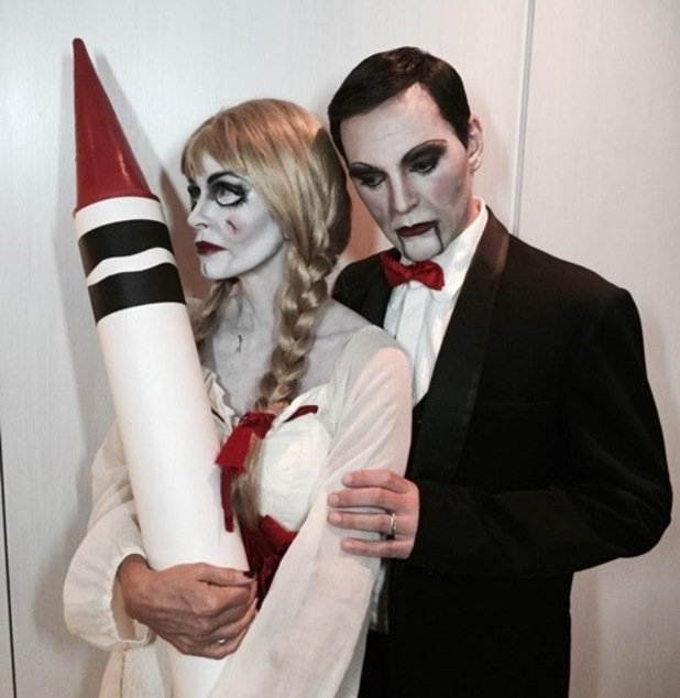 Courteney Cox and Johnny McDaid dress up for Halloween 30 October