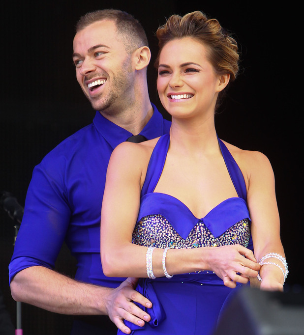 Artem Chigvintsev and Kara Tointon at the Jubilee Family Festival at Hyde Park. London, England - 2 June 2012.