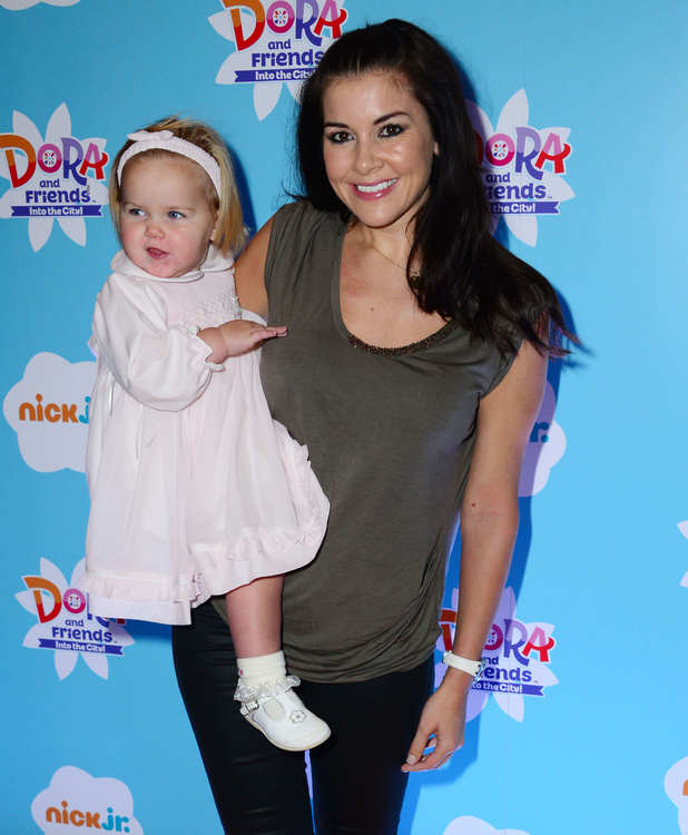 Imogen Thomas and daughter Ariana attend 'Dora and Friends: Into The City' TV show premiere, 2 November 2014