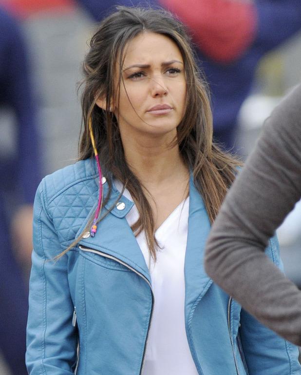 'Ordinary Lies' TV drama filming, Manchester, Britain - 28 Oct 2014 Michelle Keegan