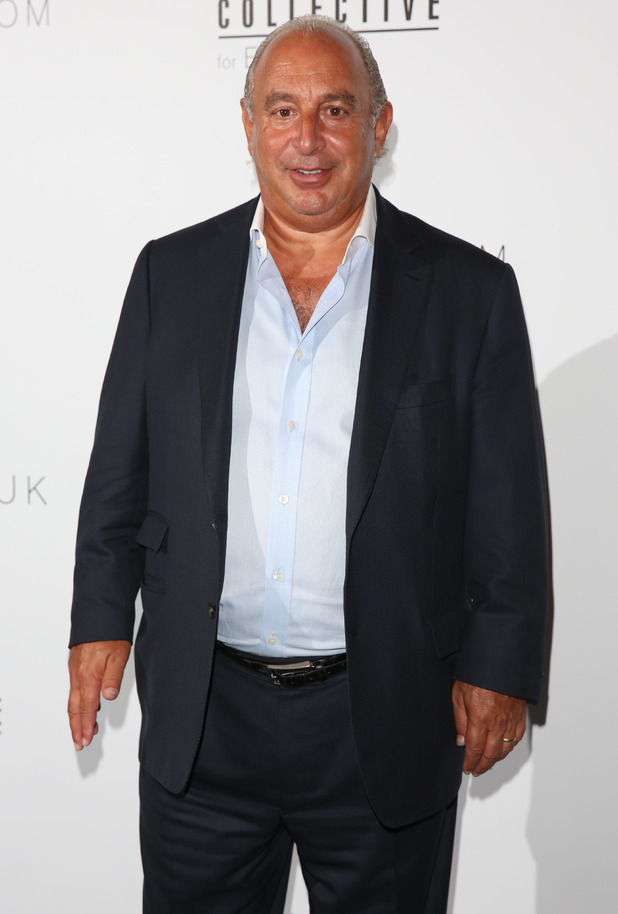 Sir Philip Green attends the Evans show at London Fashion Week - 16 September 2014