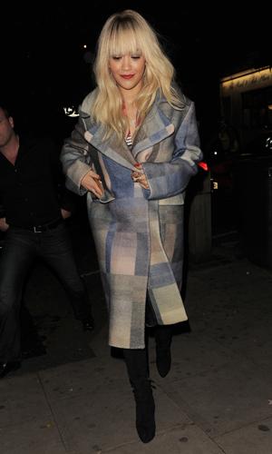 Rita Ora leaving The Hospital Club on 30 October 2014