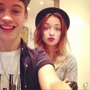 X Factor contestants Lauren Platt and Charlie George Instagram photo. 9 October 2014.