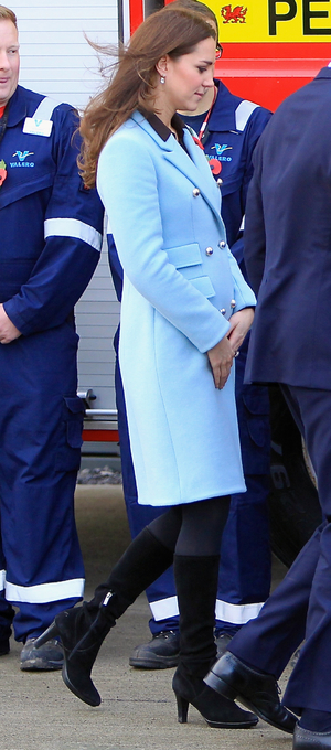 Pregnant Kate Middleton visits the Pembroke Refinery, 8 November 2014