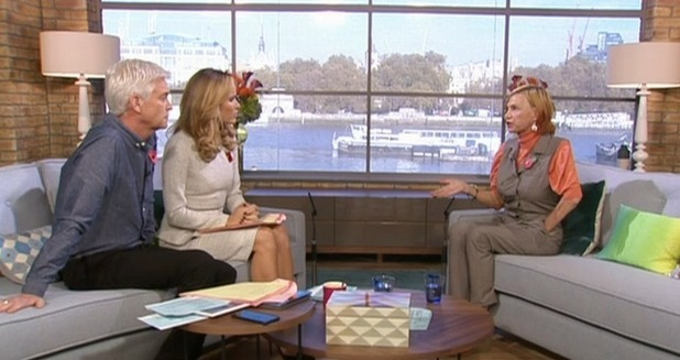 Jackiey Budden on This Morning, ITV 6 November