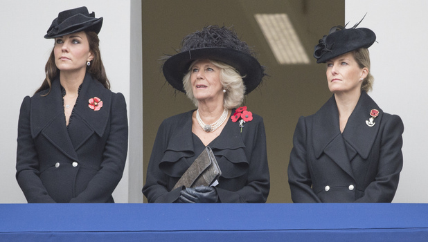 Pregnant Kate Middleton attends Remembrance Day Service at the Cenotaph Whitehall, London - 09.11.14