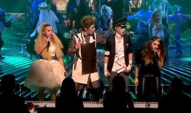 Only The Young perform the 'Monster Mash' on The X Factor, ITV 1 November