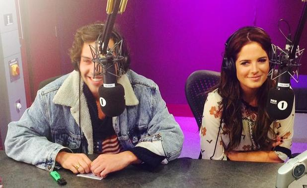 Made In Chelsea's Binky and Andy on Nick Grimshaw's radio show.