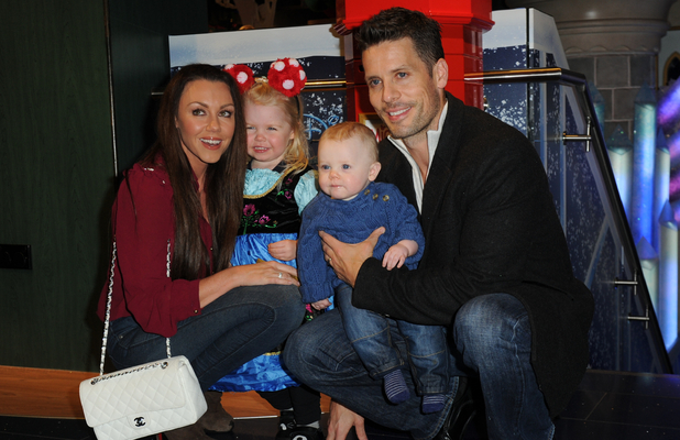 Michelle Heaton and family at the Disney Store's Christmas Party, Oxford Street, London 4 November