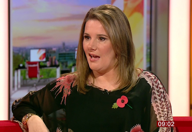 Sam Bailey promoting her autobiography, 'Sam Bailey - Daring to Dream - My Autobiography' on 'BBC Breakfast'. 6 November 2014.
