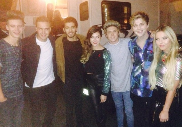 Only The Young meet One Direction's Liam Payne, Zayn Malik and Niall Horan, X Factor studios 2 November