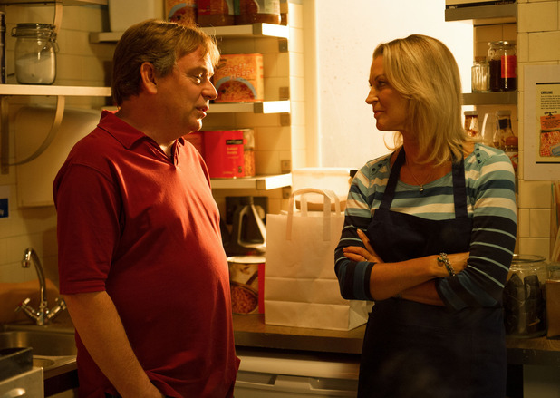 EastEnders BBC Children In Need sketch - The Ghosts of Ian Beale - 14 November 2014. Kathy Beale and Ian Beale.