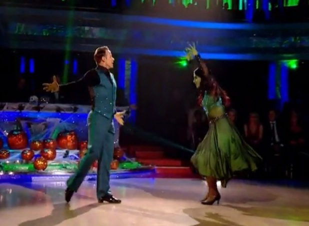 Frankie Bridge performs the Tango on Strictly Come Dancing, BBC One 1 November
