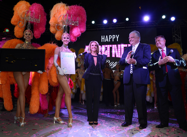 Britney Spears joined by thousands to celebrate Britney Day in Las Vegas - 5 November.