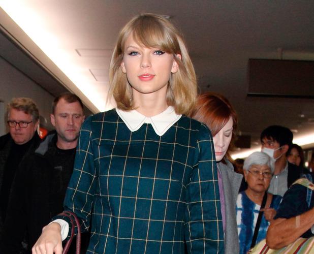 Taylor Swift arriving at Narita International Airport, Chiba Prefecture, Japan. 4/11/14