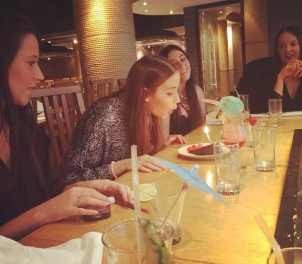 Jacqueline Jossa celebrates her 22nd birthday - 3 Nov 2014