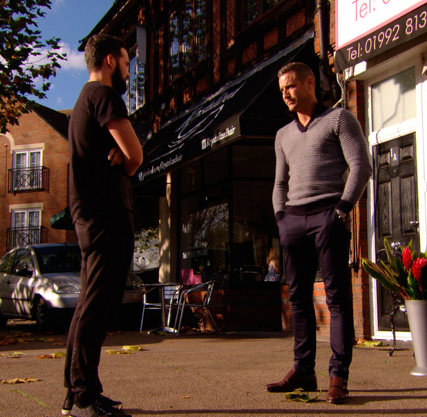 TOWIE: Ricky Rayment comes face to face with Elliott Wright, episode airing 5 November 2014