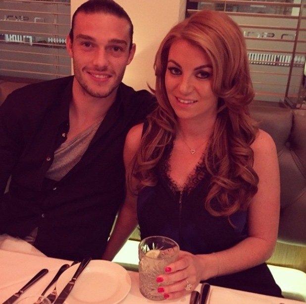 TOWIE's Billi Mucklow and Andy Carroll enjoy a date night after engagement - 7 Nov 2014