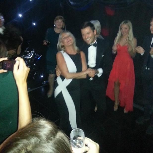 Mark Wright and mum Carol enjoy a dance at Josh Wright's 25th birthday party, 8 November 2014