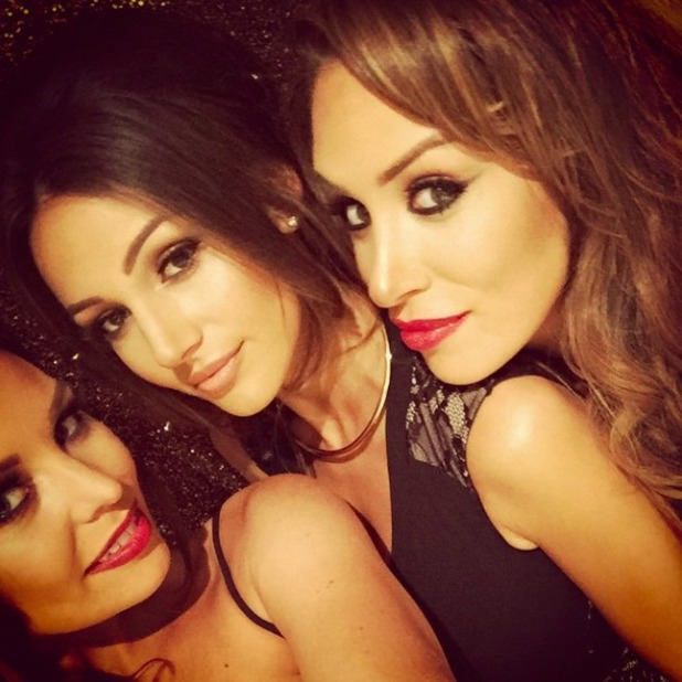 Michelle Keegan and Jessica Wright strike a pose at Josh Wright's birthday party, 8 November 2014
