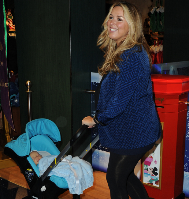Claire Sweeney and Jaxon at the launch of Disney Store's 'Share the Magic' Christmas charity campaign in London's Oxford Street. 4 November.